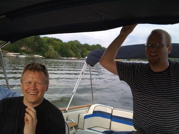 Gregg (L) and Chris (R) on Lake Minnetonka